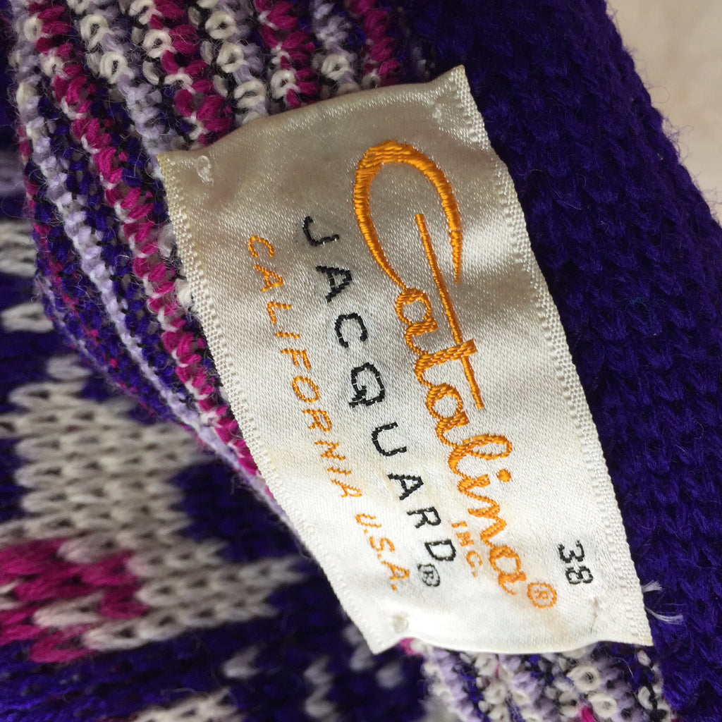 Vintage 60s CATALINA Après-Ski Knit Sweater, label