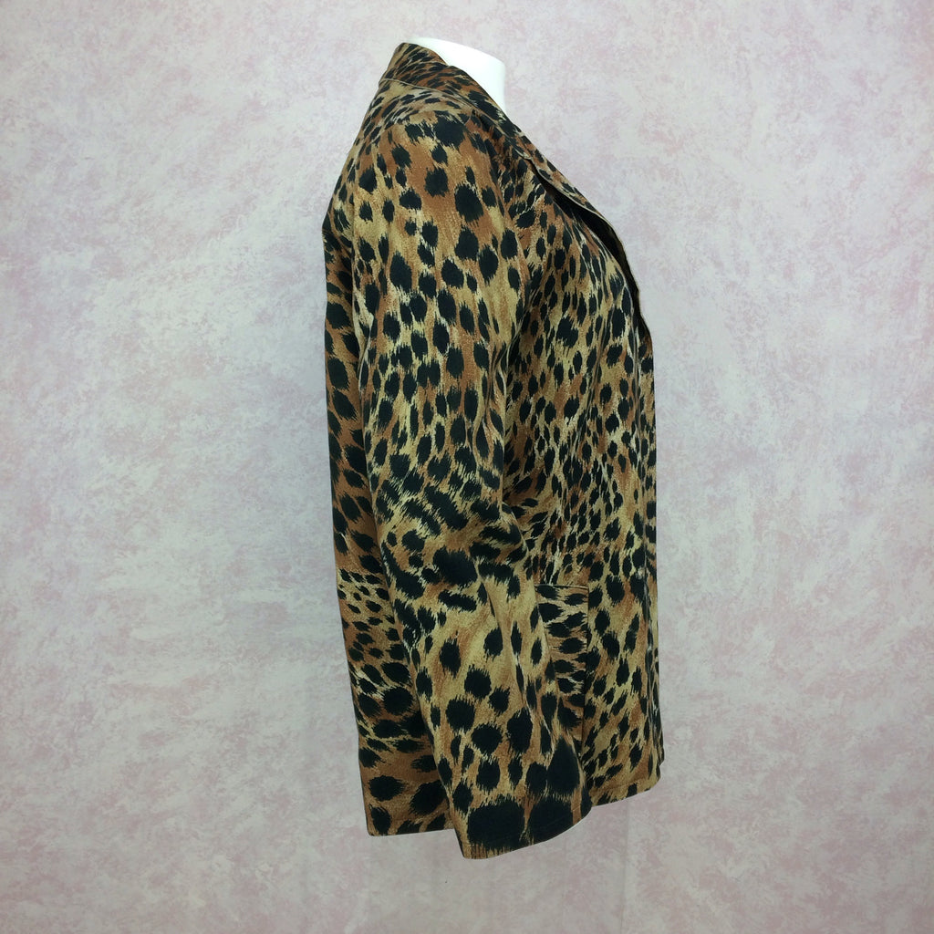Vintage 80s Ultra-Suede Leopard Jacket, side 2