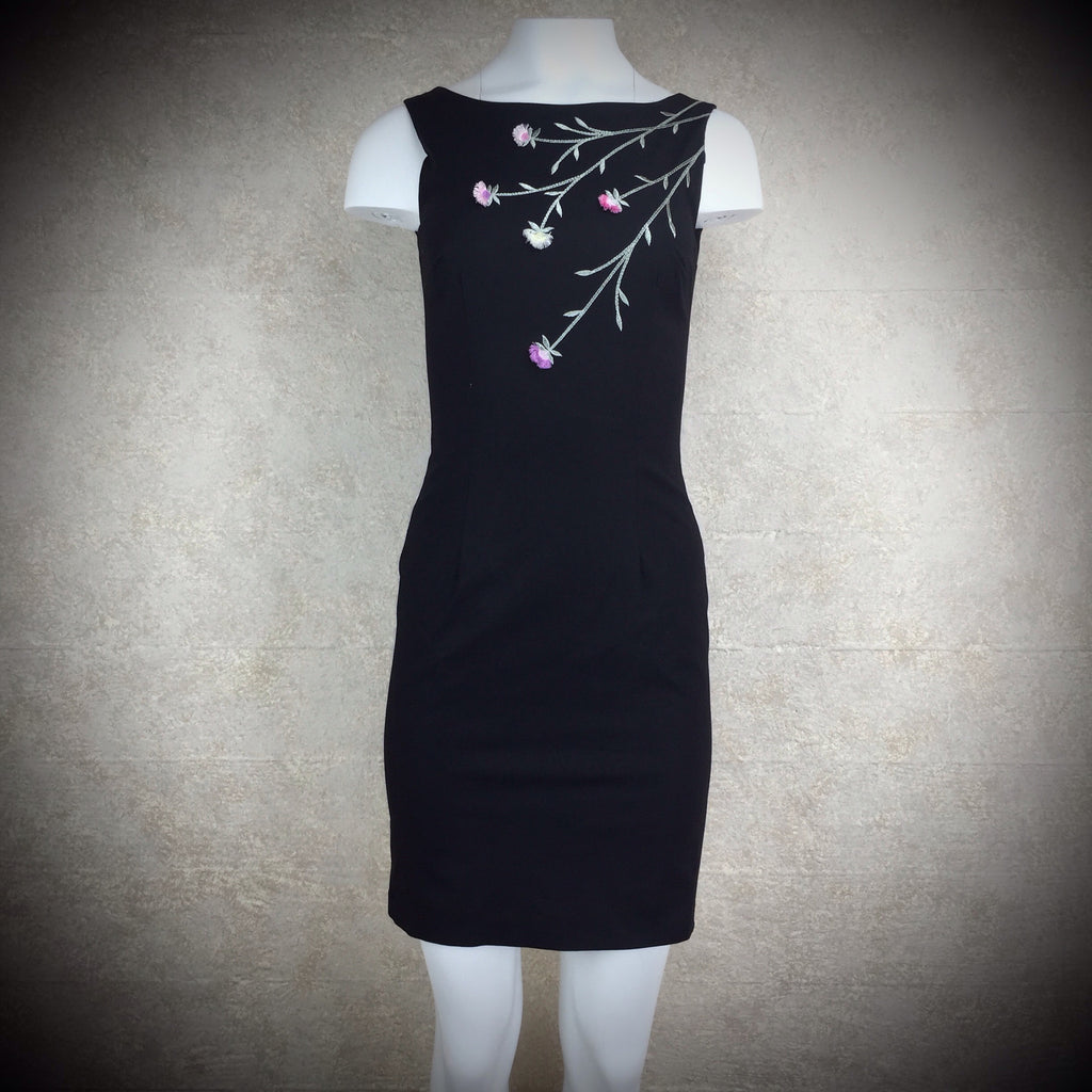 2000s A. B. S. Sheath Dress w/Embroidery, Front