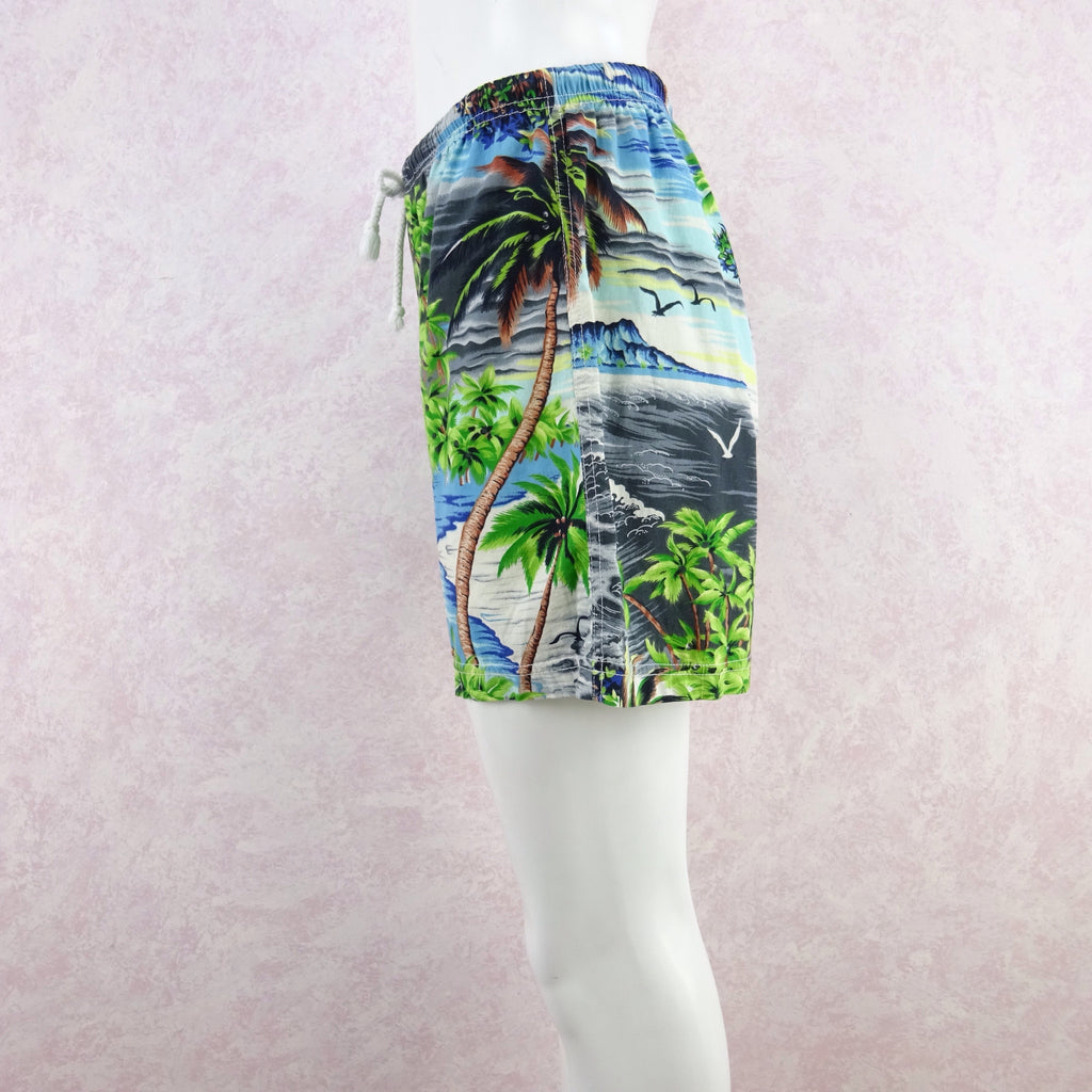 Vintage 90s THEODORE Tropical Print Shorts, NOS qw