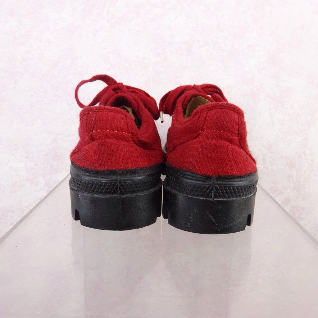 2000s Red Canvas Sneakers NWT  df