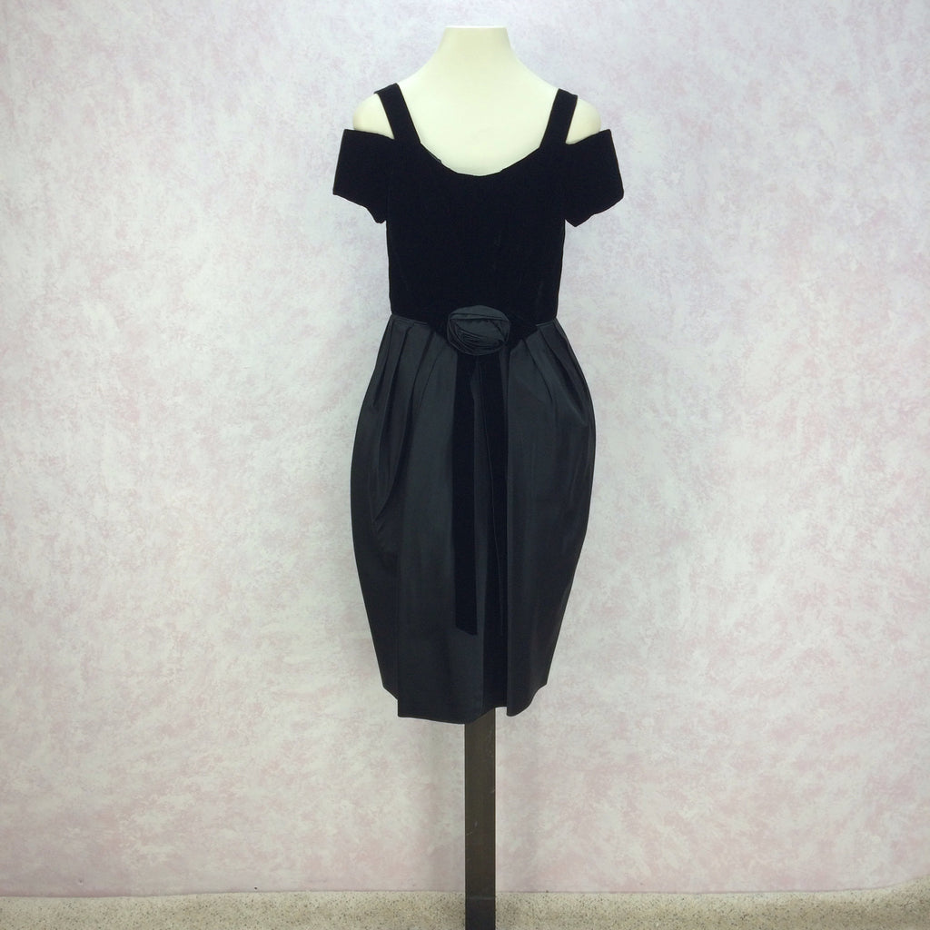 Vintage 60s Tulip Bubble Skirt Cocktail Dress f