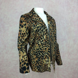 Vintage 80s Ultra-Suede Leopard Jacket, side