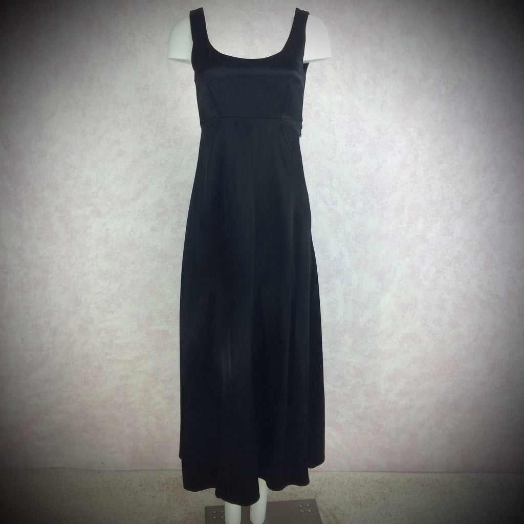 2000s TRILOGY Sexy Satin Open Tie Back Dress, NOS-SOLD