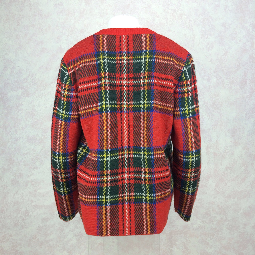 2000s BILL BLASS USA Red Plaid Twin Set, Back