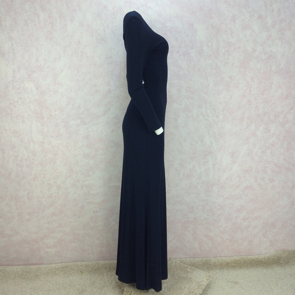 2000s A.B.S. Jersey Evening Gown w/ Sexy Back, S