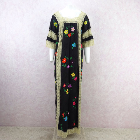 Vintage 80s Solid Colorful Sequin Dress w/Beaded Fringe SOLD