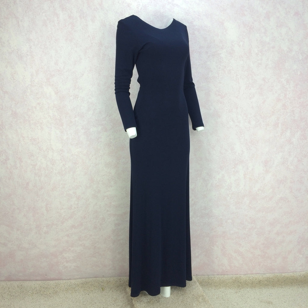 2000s A.B.S. Jersey Evening Gown w/ Sexy Back, 3/4