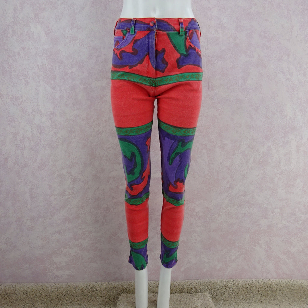 Vintage 90s Multi-color Italian Jeans front