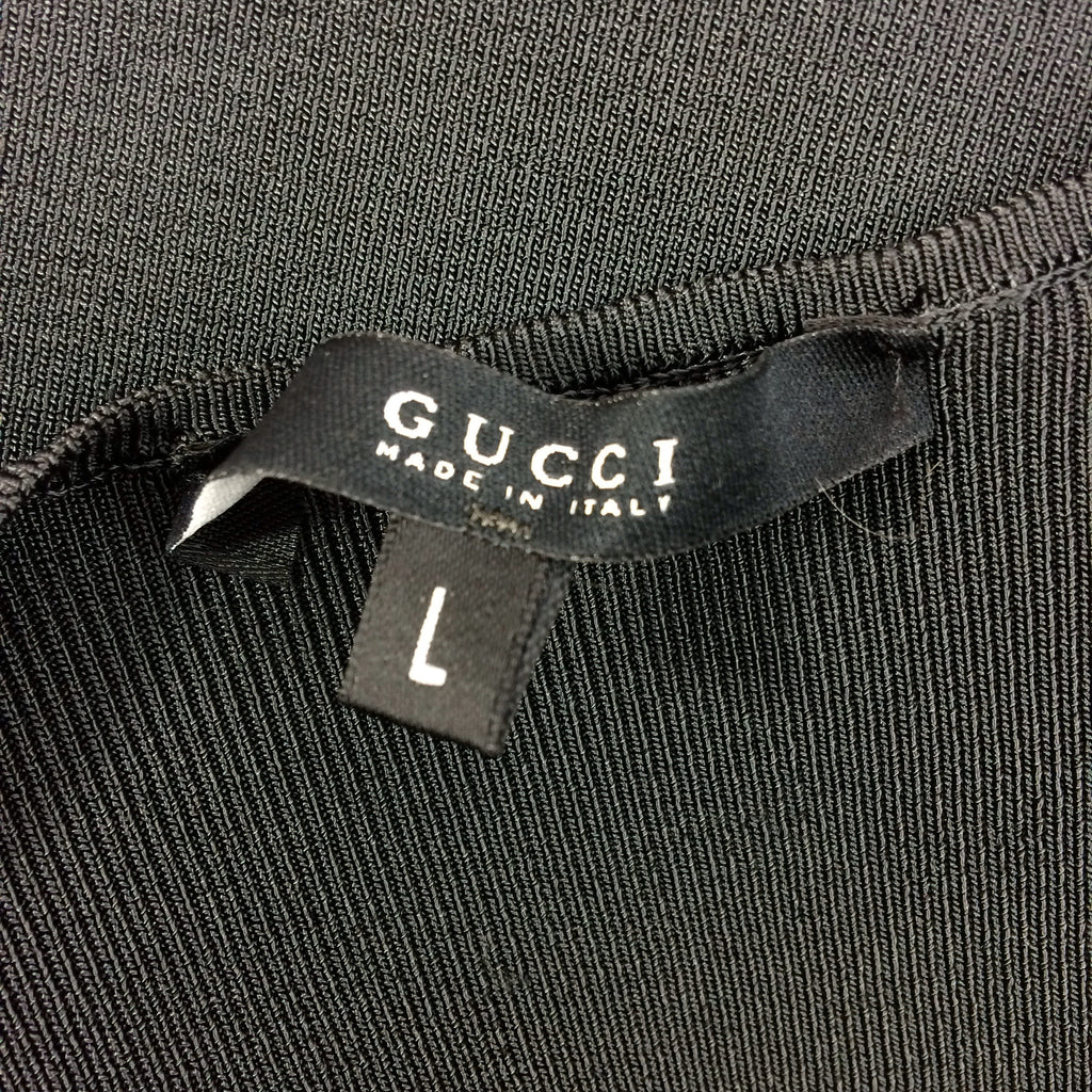 2000s GUCCI Ribbed V-Neck Knit Pullover label