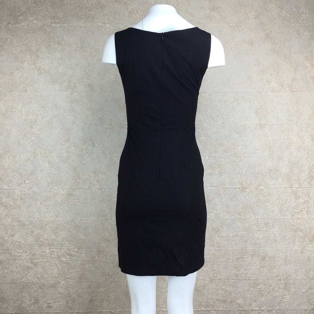 2000s A. B. S. Sheath Dress w/Embroidery, Back
