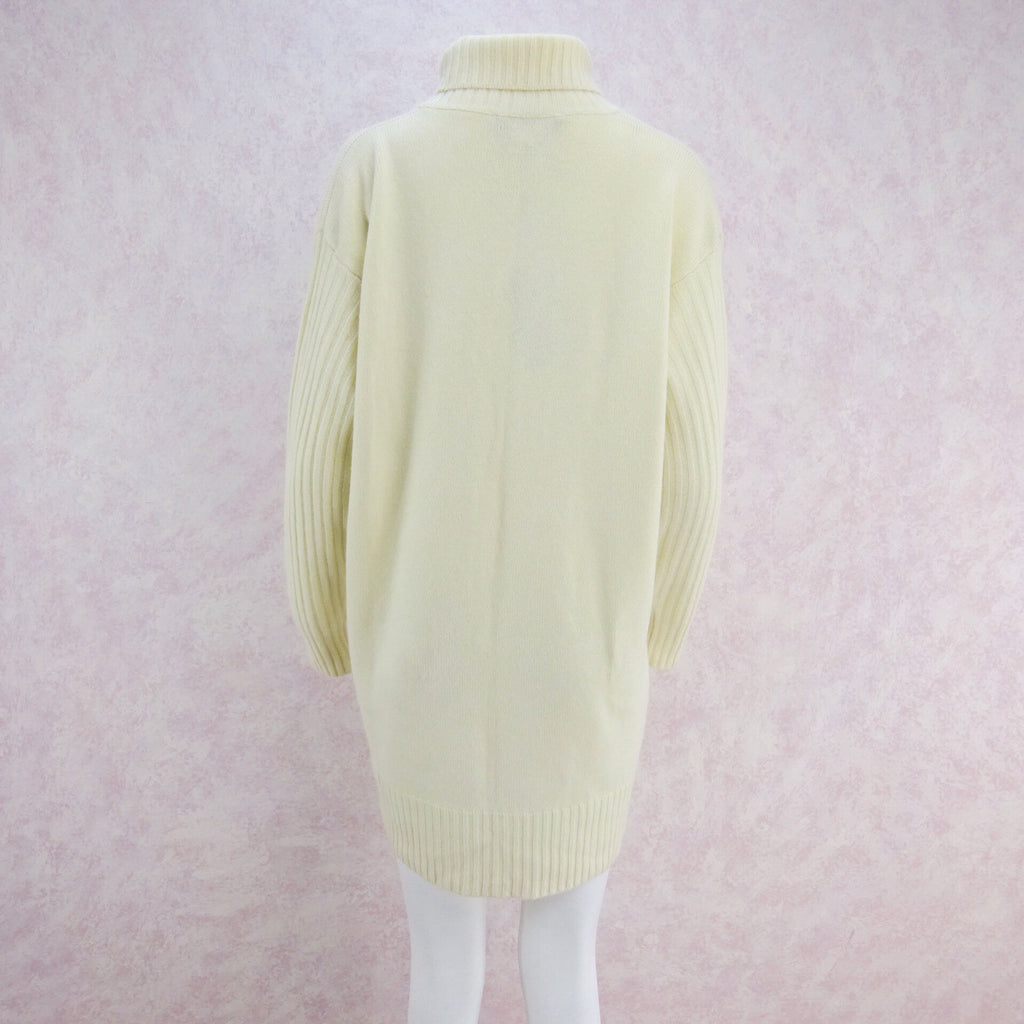 2000s Cashmere Knit Turtleneck Dress, Large NWT b