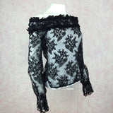 2000s BANG Lace Off-The-Shoulder Blouse, S