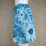 Vintage 90s ICEBERG Weather Print Denim Skirt, Side 2