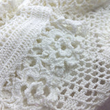 2000s THE WRIGHTS White Cotton Crochet Sweater, Detail