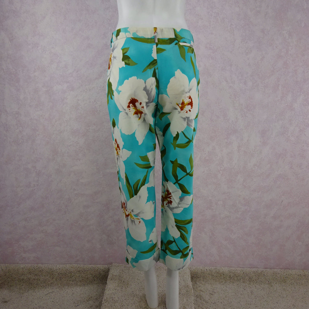 2000s CACHAREL Floral Cropped Pants NWT back