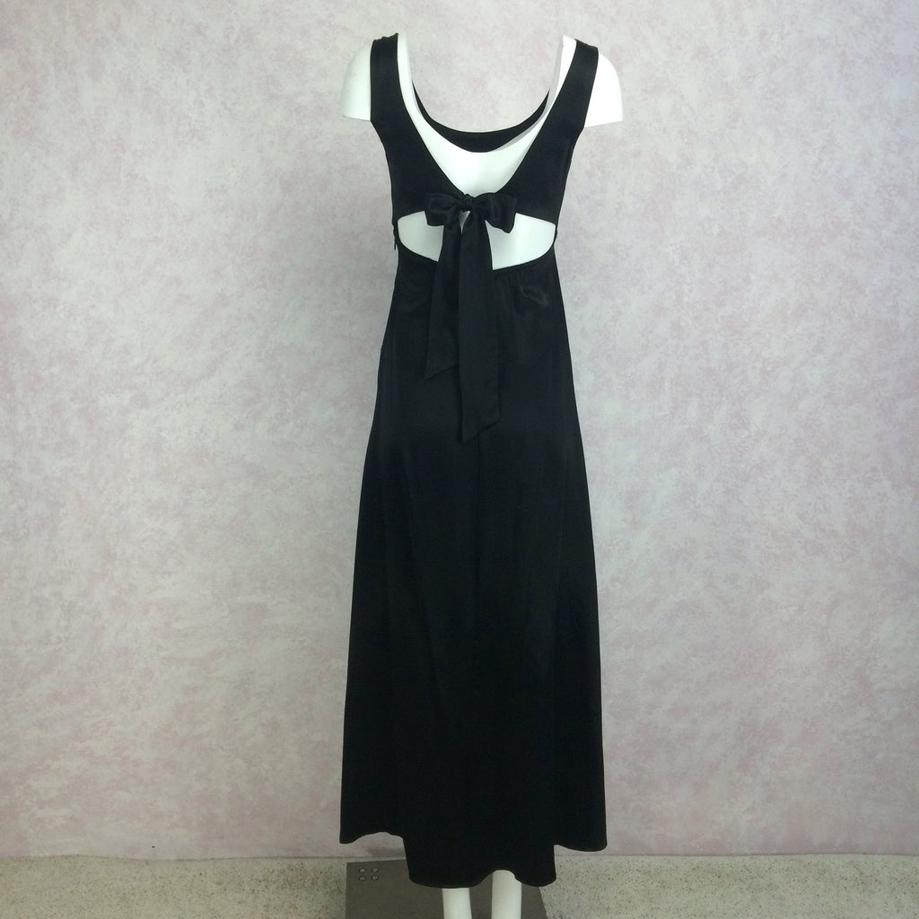 2000s TRILOGY Sexy Open Tie Back Dress, Back