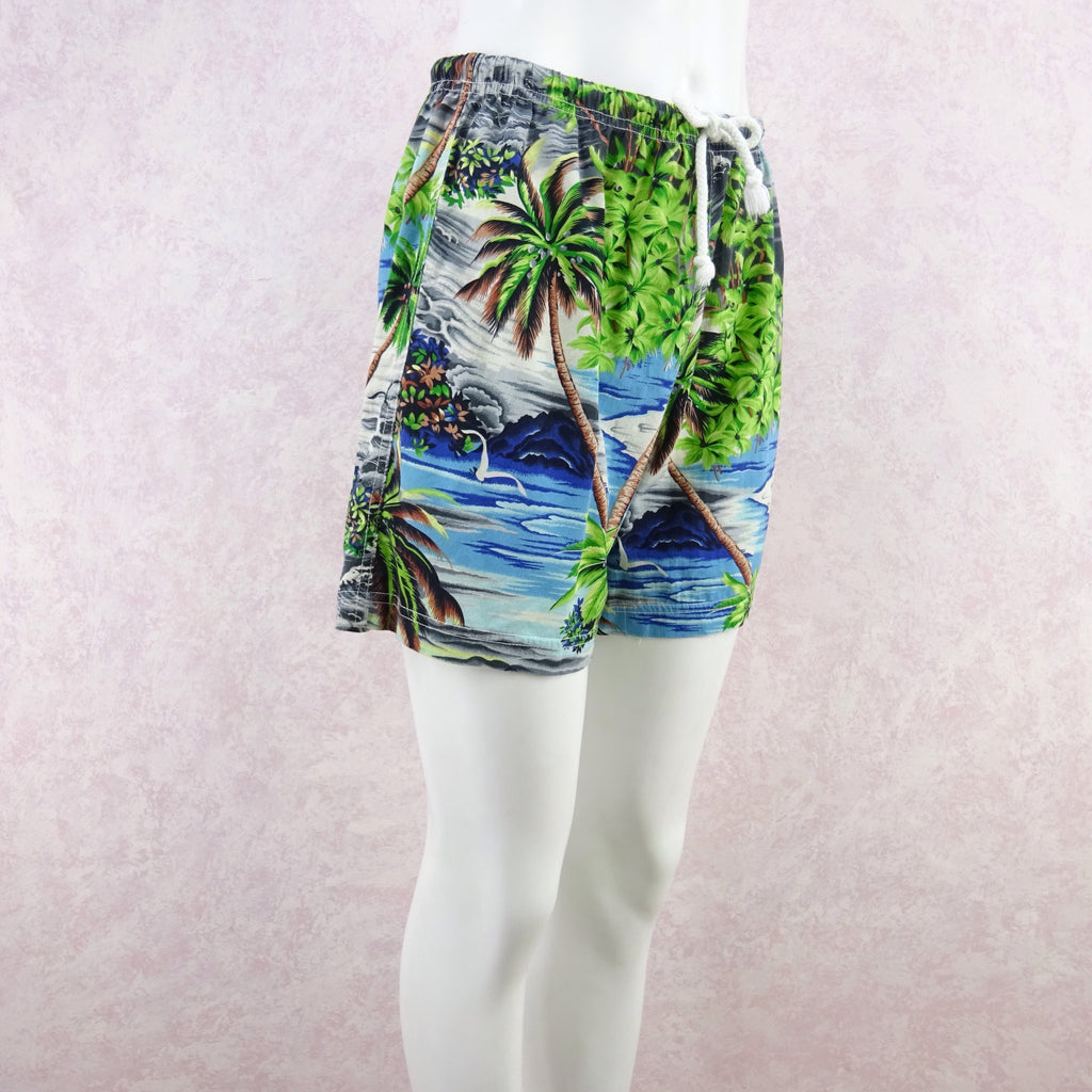 Vintage 90s THEODORE Tropical Print Shorts, NOS fd