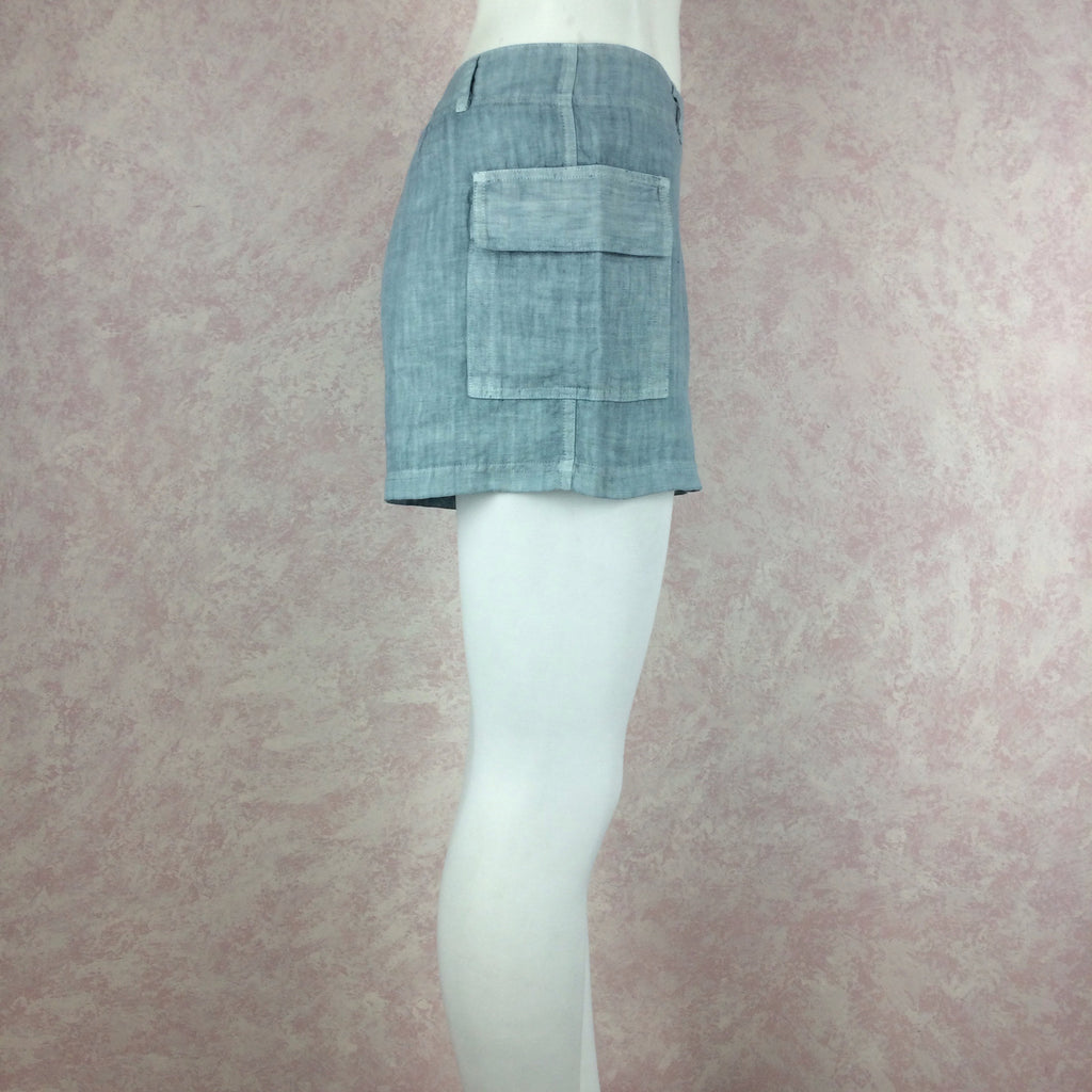 2000s THEODORE Linen Shorts w/Side Hip Pockets, NOS side 2