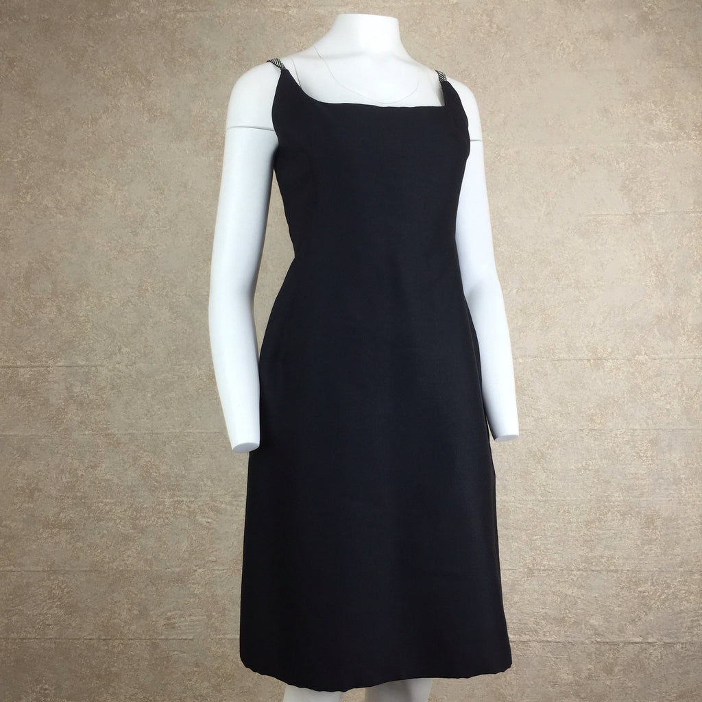 Vintage 60s TRIGERE Classic Black Dress, Side