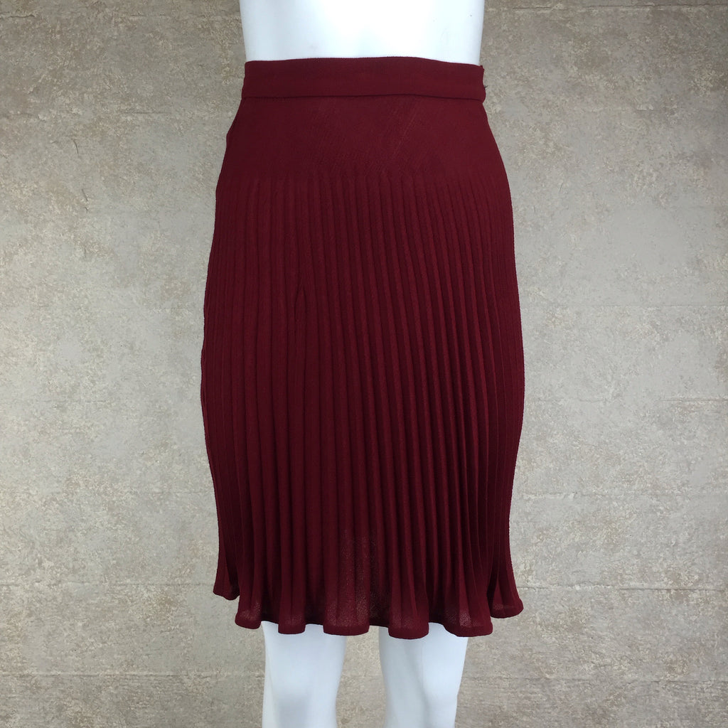 Vintage 80s UNGARO Wool Pleated Skirt, front