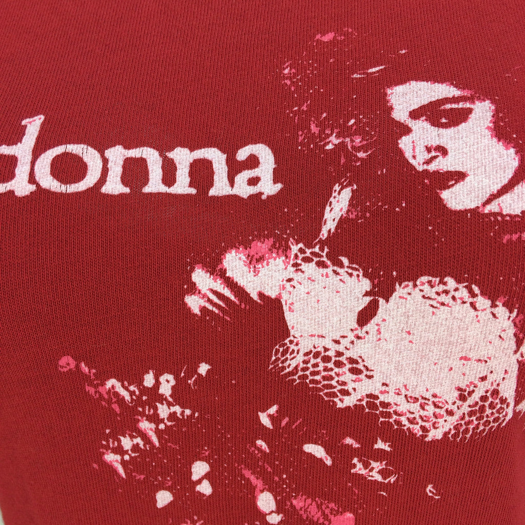 2000s Limited Re-Issue MADONNA Virgin Tour T-Shirt, Detail