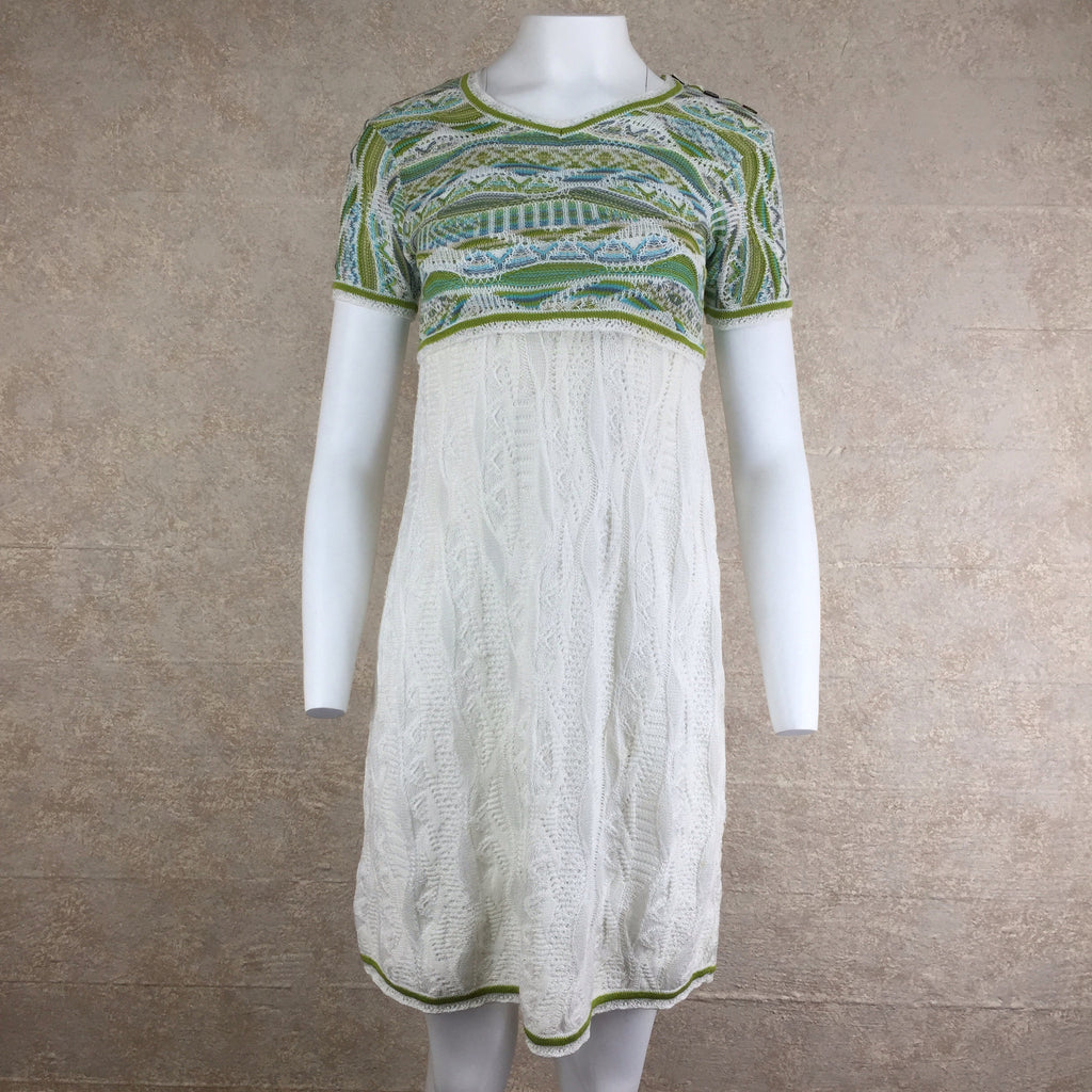 2000s COOGI Cotton Knit Short-Sleeve Dress, front