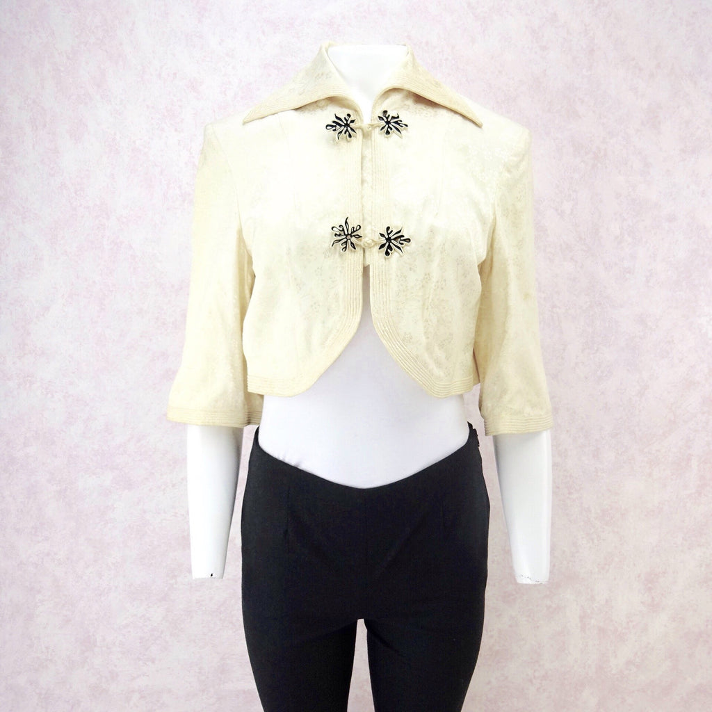 9fa979fa55d6 Vintage 40s Chinese Cropped Silk Jacquard Jacket – Voguely Familiar
