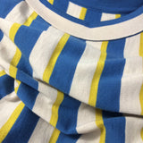 Vintage 60s Bold Striped Italian Wool Knit Dress, close up