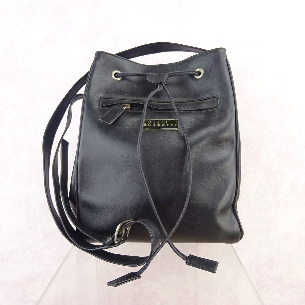 2000s FRATELLI ROSSETTI Leather Bag w/Drawstring