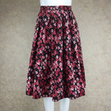 Vintage 60s Cotton Floral Full Dirndl Skirt