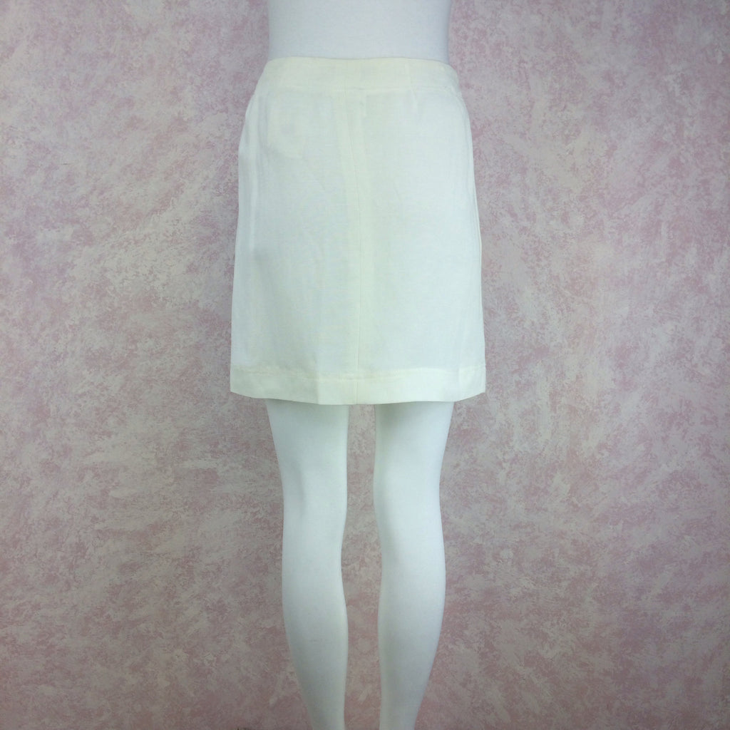 Vintage 90s DONNA KARAN Linen Wrap Skirt, Back