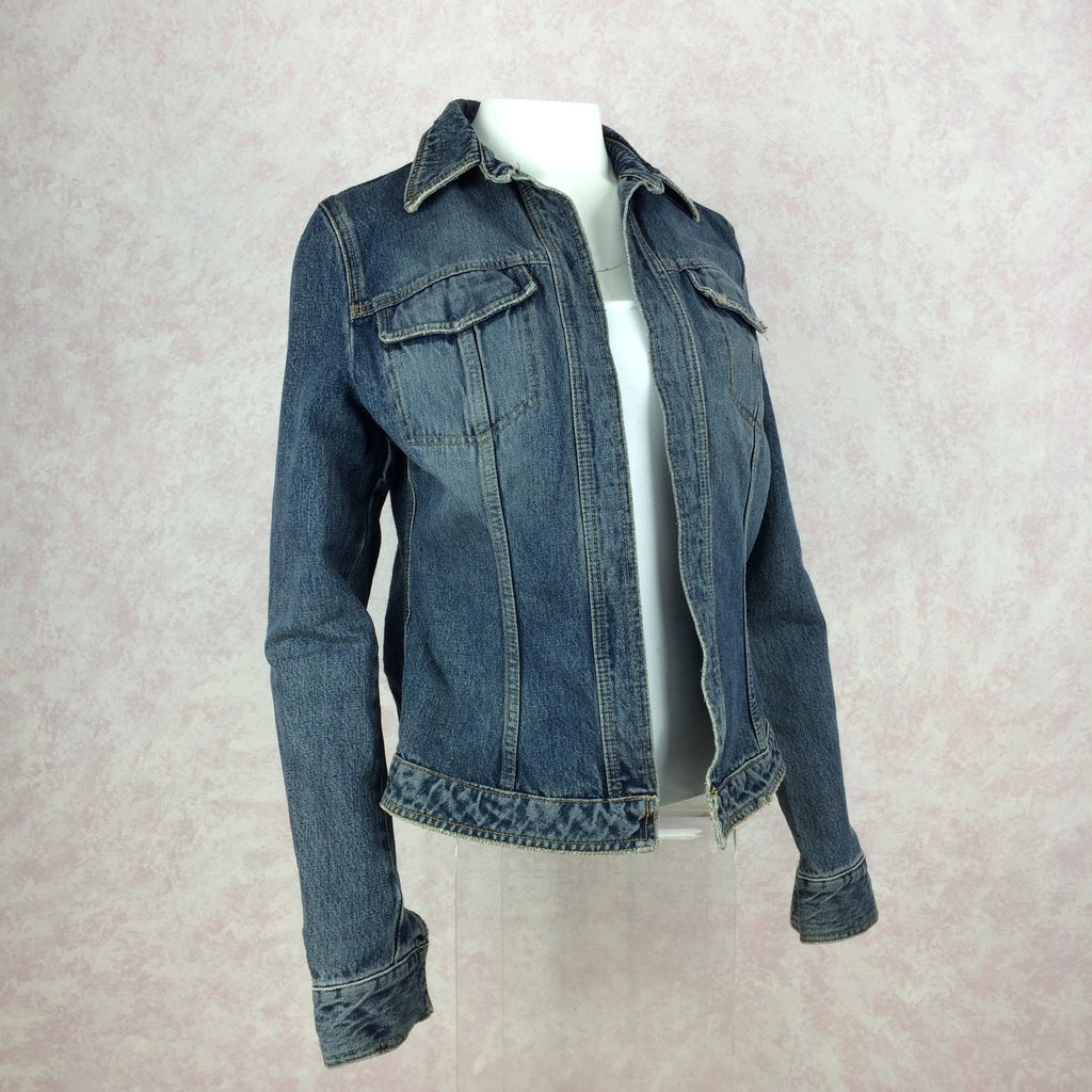 2000s DOLCE & GABBANA Distressed Denim Jacket, NOS