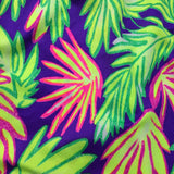 Vintage 90s Neon Lime Body Con Stretch Tropical Dress, D