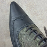 Vintage 90s Pewter Oxford Shoes, toe