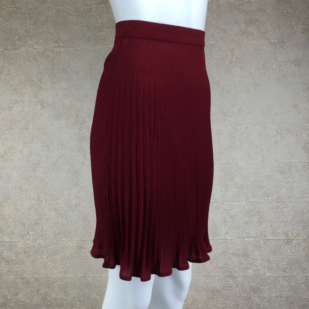 Vintage 80s UNGARO Wool Pleated Skirt, side