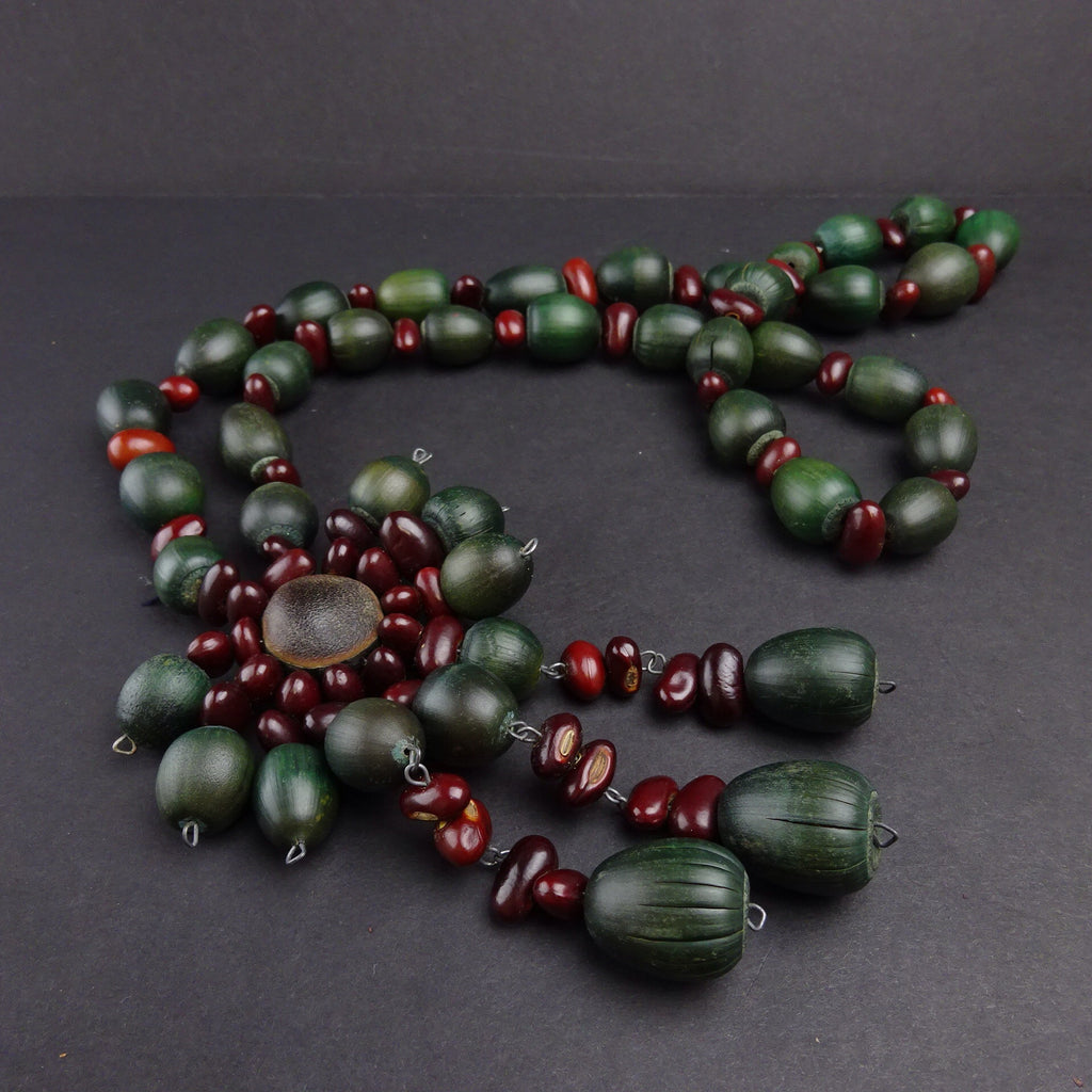 Vintage 90s Long Beaded Necklace c