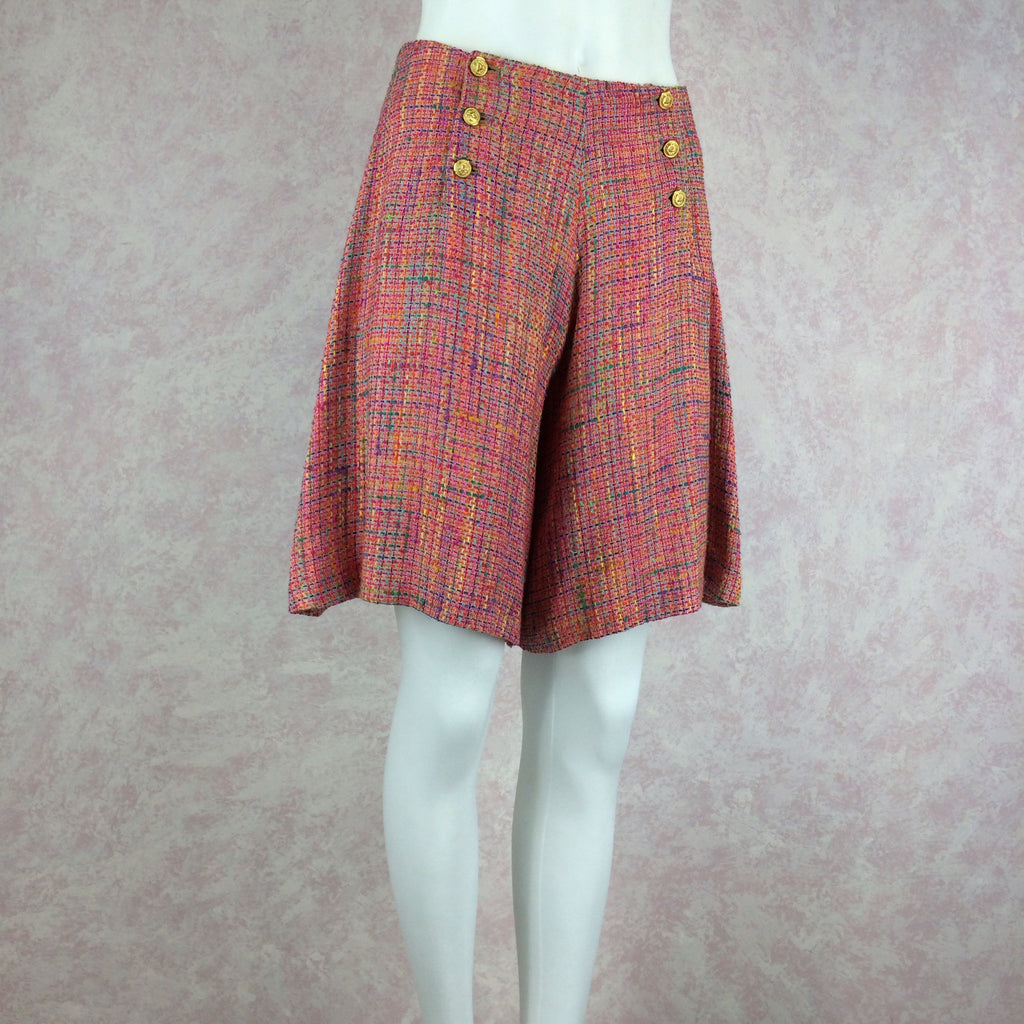 ***** 2000s HBR Multi-Color Tweed Shorts front