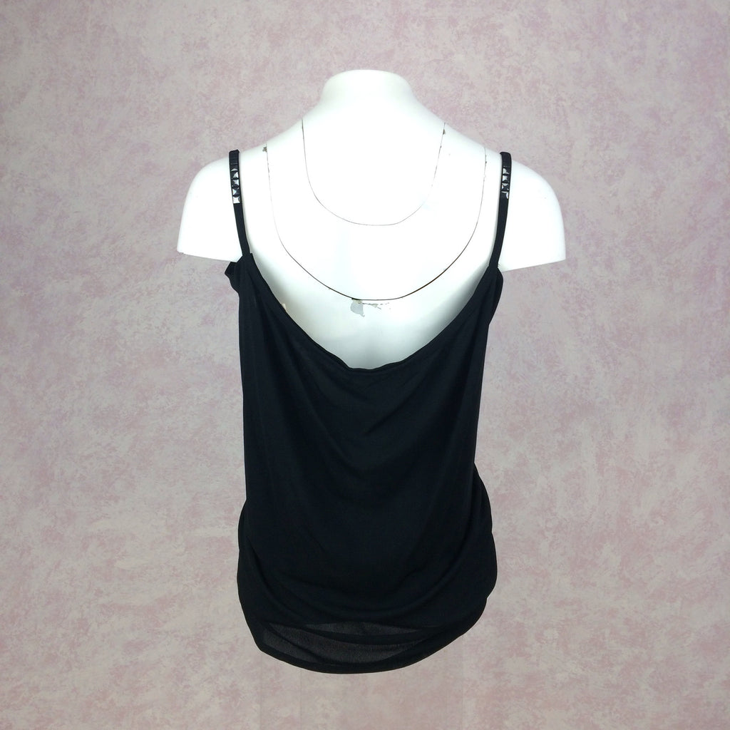 2000s La Perla Black Butterfly Tie Beach Top, Back