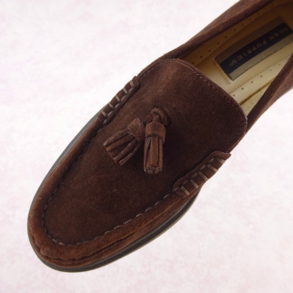 2000s Brown Suede Classic Loafers as