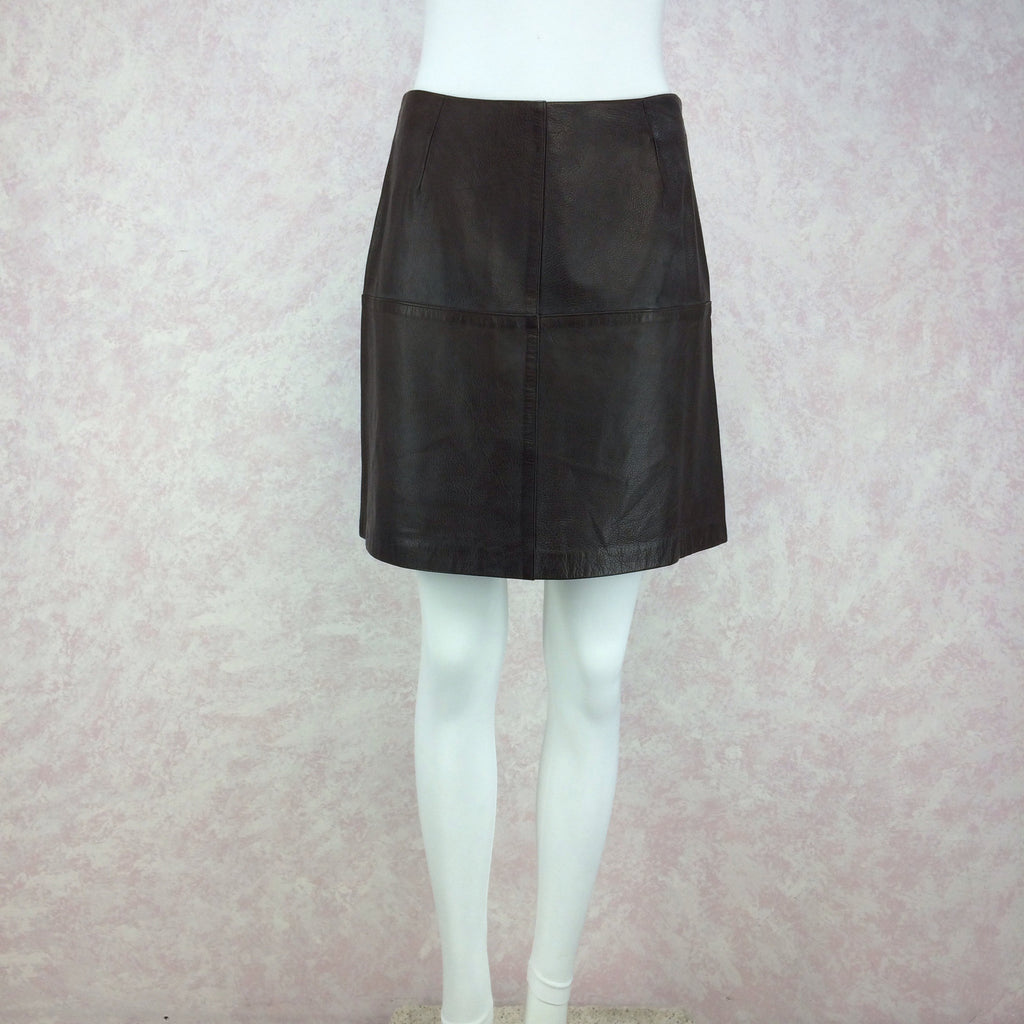 Vintage 90s VITTADINI Leather Skirt, Front