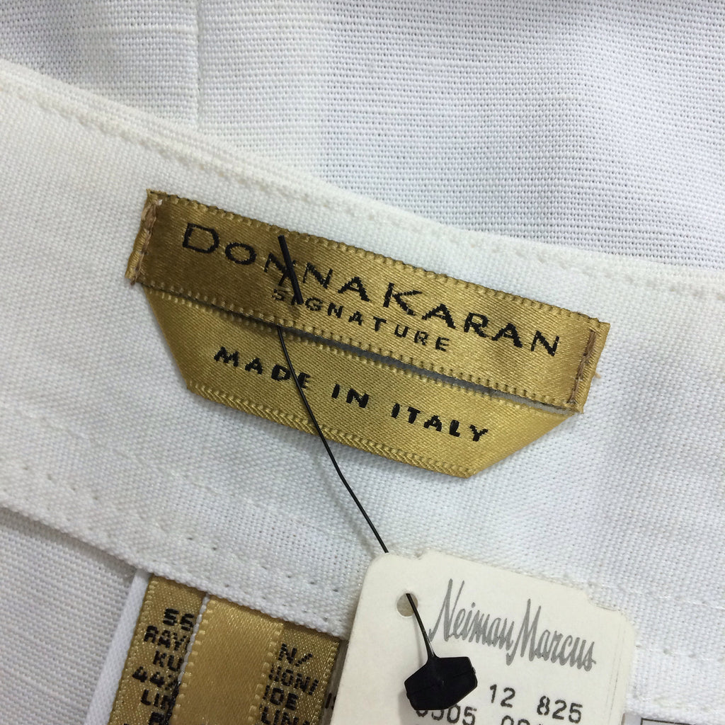 Vintage 90s DONNA KARAN Linen Wrap Skirt, Label