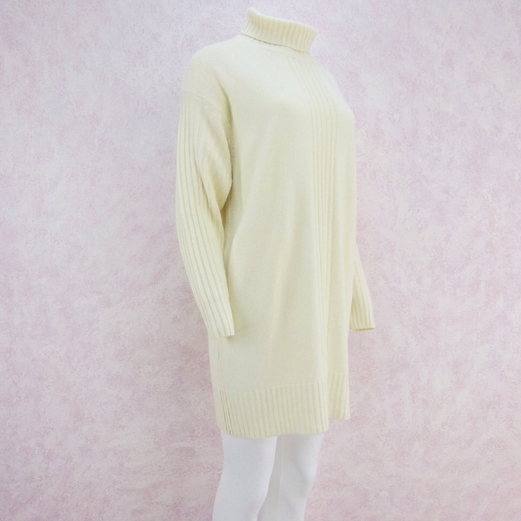 2000s Cashmere Knit Turtleneck Dress, Large NWT s