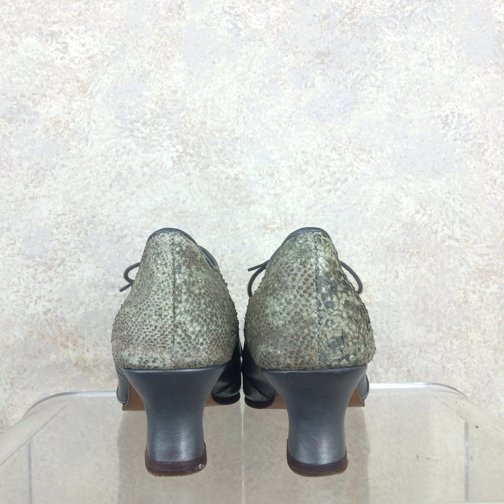 Vintage 90s Pewter Oxford Shoes, b