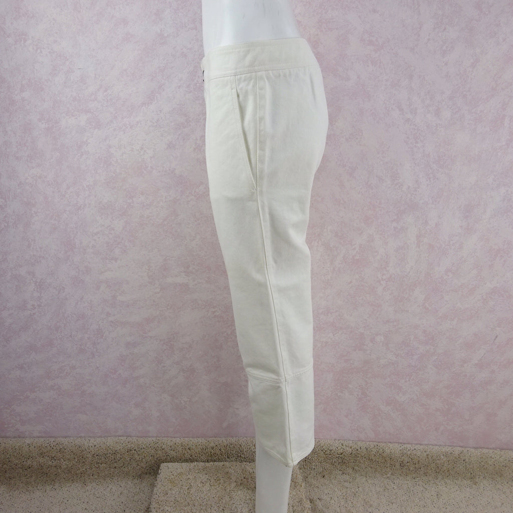 2000s GUCCI White Denim Jeans NWT side 3