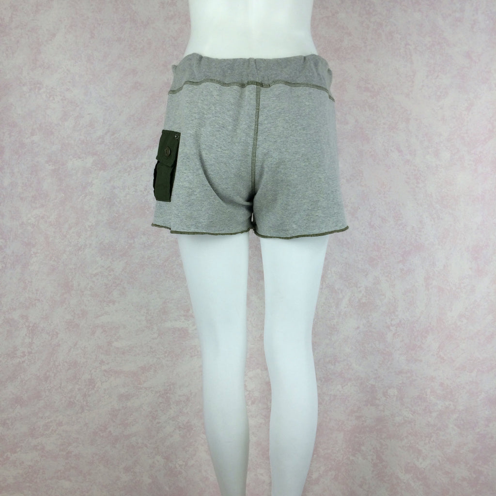 2000s RILEY Sweatshirt Shorts w/Hip Patch Pocket, NOS s2