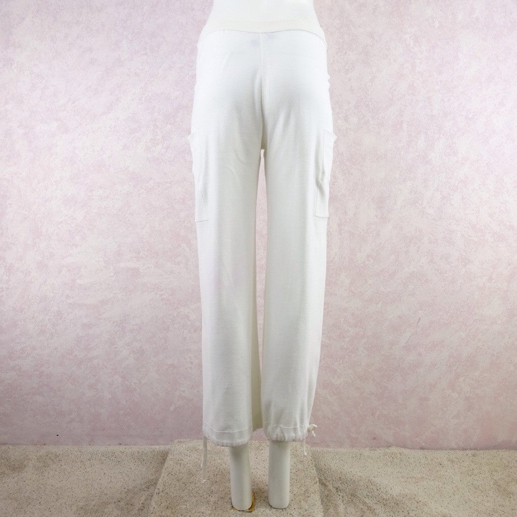 2000s SONIA RYKIEL White Cotton Sweat Pants eddd