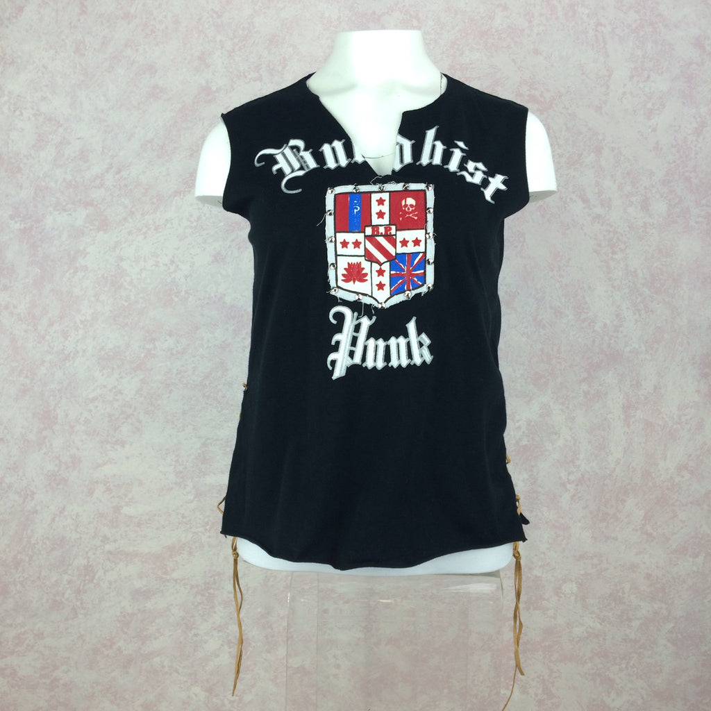 """BUDDHIST PUNK"" T-Shirt, front"
