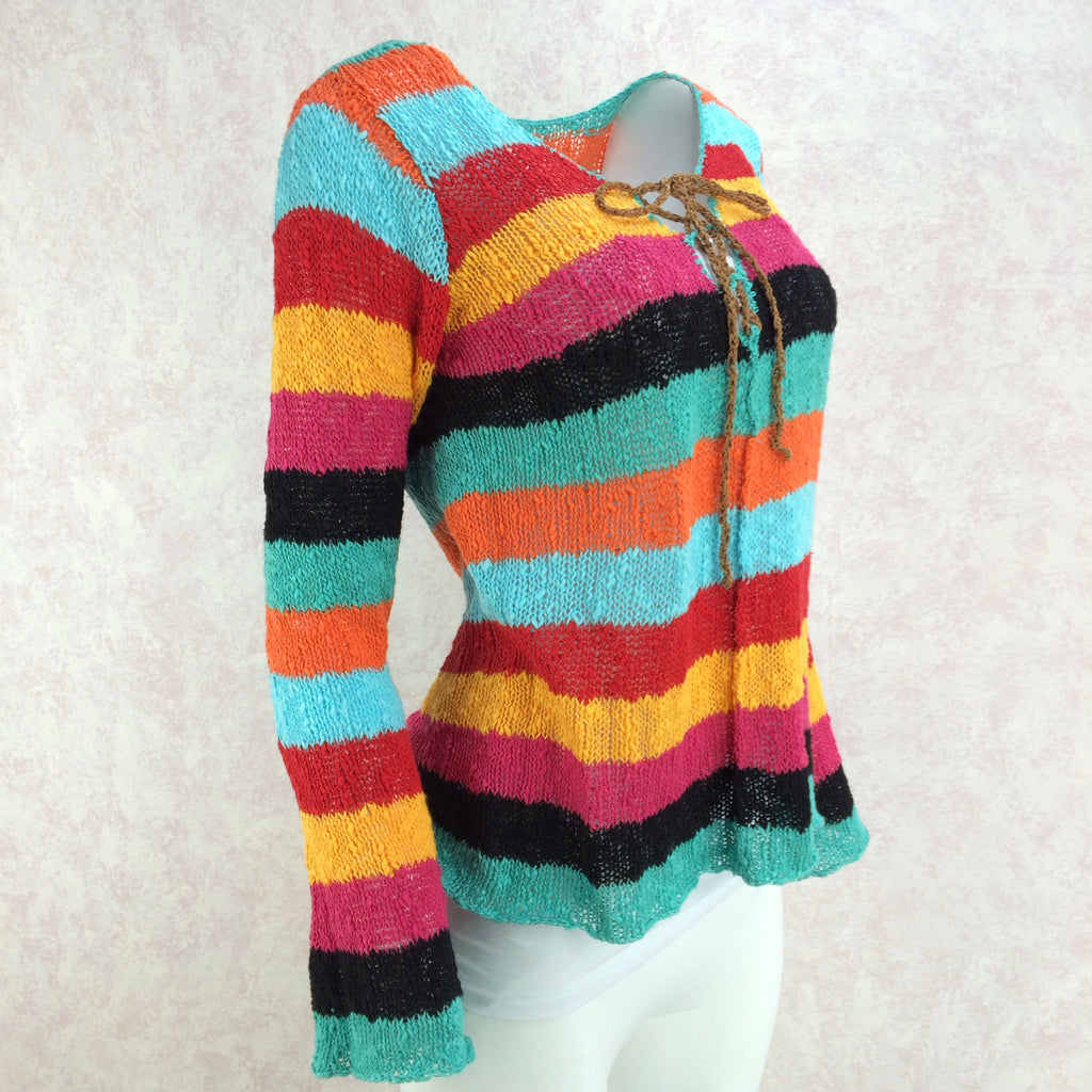 2000s SUSS Multi-Color Knit Top, Side