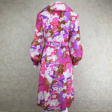 Vintage 70s Psychedelic Wrap Dress, back